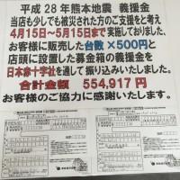 熊本地震 義援金報告